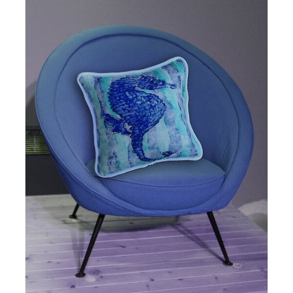Seahorse Indoor/Outdoor Throw Pillow by My Island