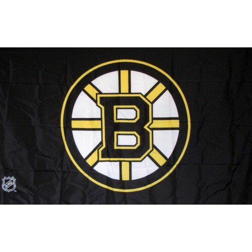 Boston Bruins Logo Polyester 3 x 5 ft. Flag by NeoPlex