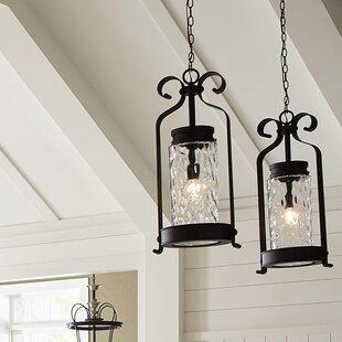 Compare prices Vanfleet 1-Light Outdoor Hanging Lantern By Red Barrel Studio