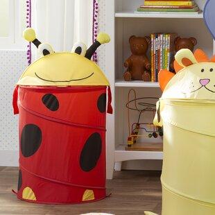 Read Reviews Ladybug Medium Kid's Pop Up Hamper ByZoomie Kids