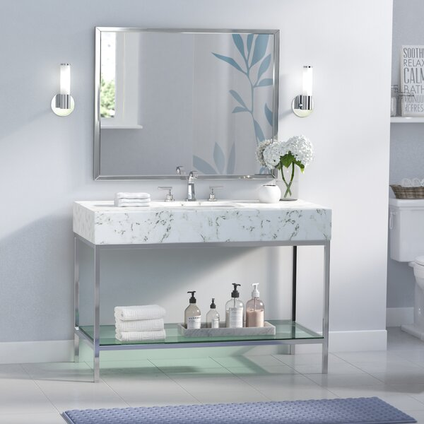 Malvina 48 Single Bathroom Vanity Set with Mirror by Orren Ellis