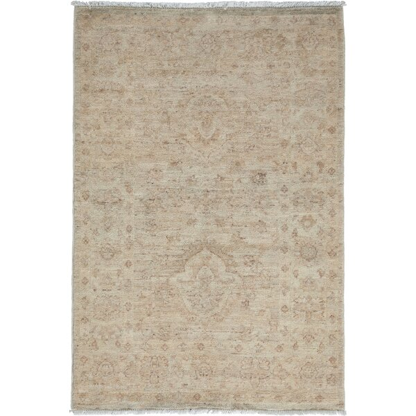 One-of-a-Kind Dania Oushak Hand-Knotted Ivory Area Rug by Isabelline