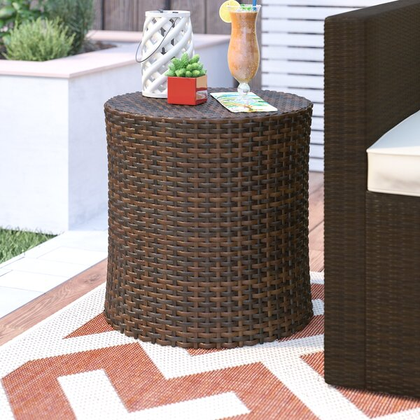Mazzella Rattan Side Table by Mercury Row