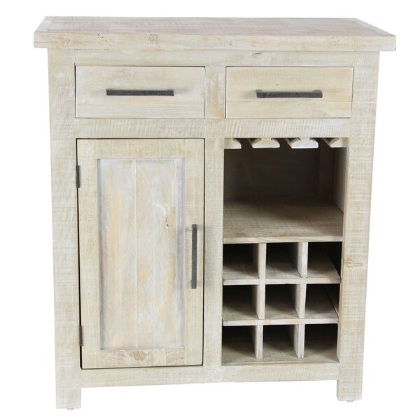 Bergeronnes 9-Bottle Floor Wine Cabinet by Loon Peak