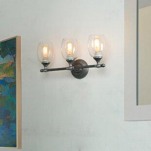 Reviews Privette 3-Light Vanity Light By Charlton Home