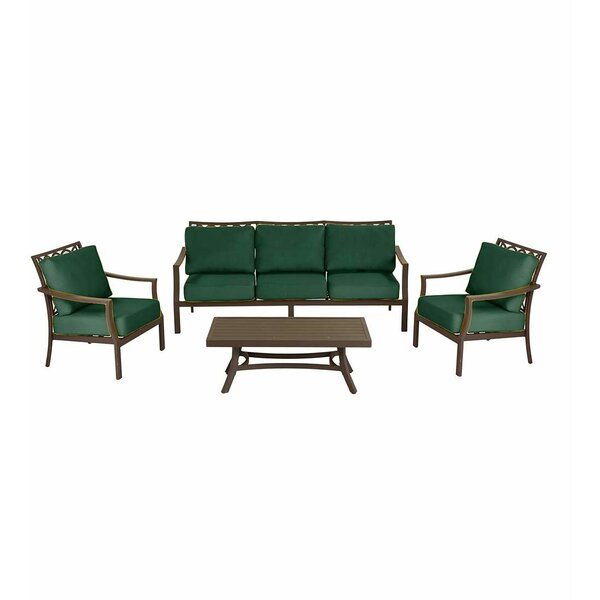 Topsail 4 Piece Sofa Set with Cushions by Plow & Hearth