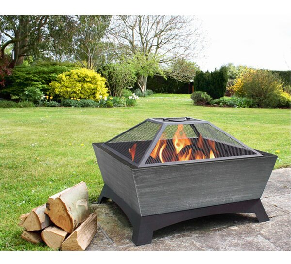 Hudson Steel Wood Burning Fire Pit by Jeco Inc.
