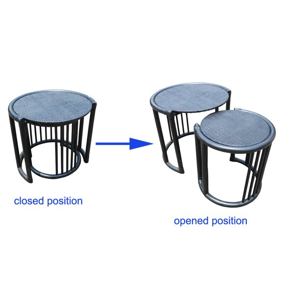 Rattan 2 Piece Nesting Tables by D-Art Collection