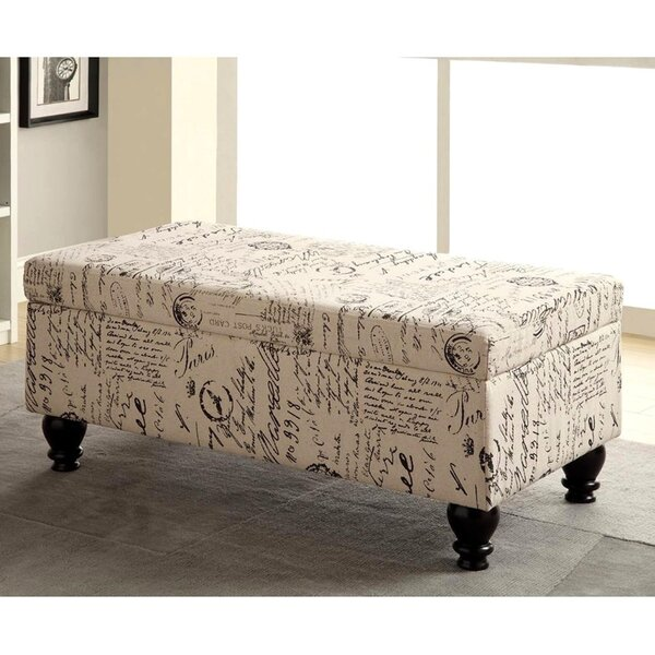 Monterrey Faux Leather Flip Top Storage Bench By Ophelia & Co.