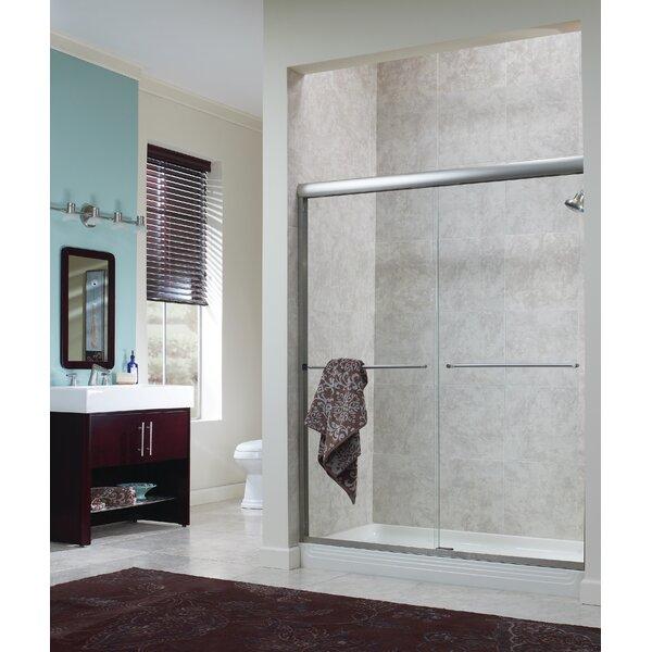 Brock 48 x 72 Bypass Frameless Shower Door by Hazelwood Home