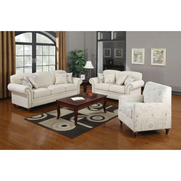 Hearon 3 Piece Living Room Set by Alcott Hill