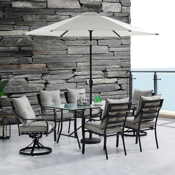 Bozarth 7 Piece Dining Set with Cushions by Darby Home Co