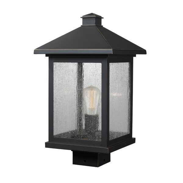 Leroy Modern 1-Light Glass Shade Lantern Head by 17 Stories