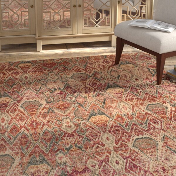 Zanders Berry/Ivory Area Rug by Bloomsbury Market