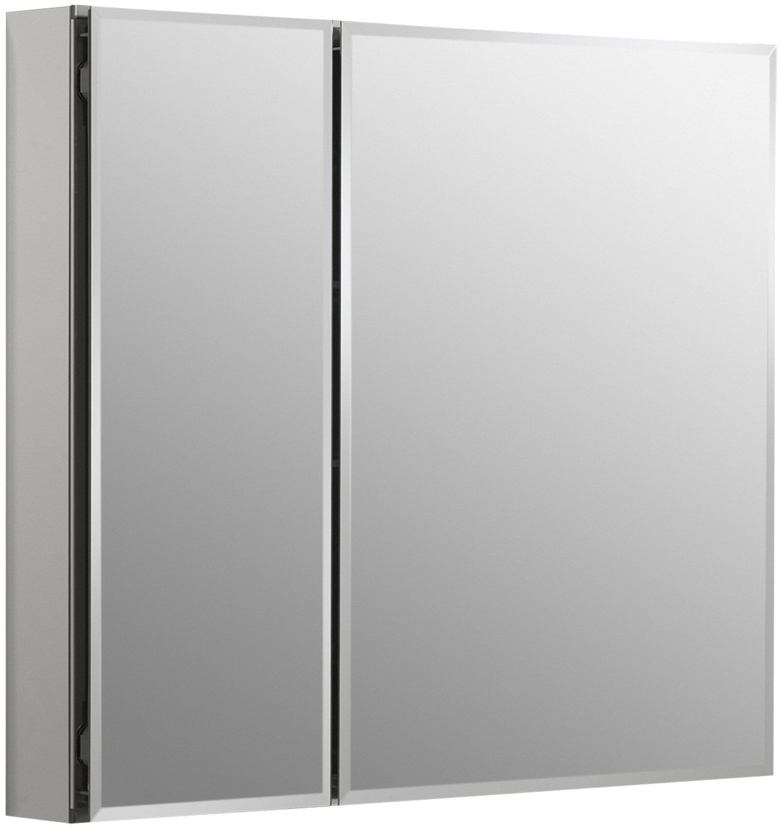 30  x 26  Aluminum Two-Door Medicine Cabinet with Mirrored Doors Beveled Edges u0026 Reviews | AllModern & 30