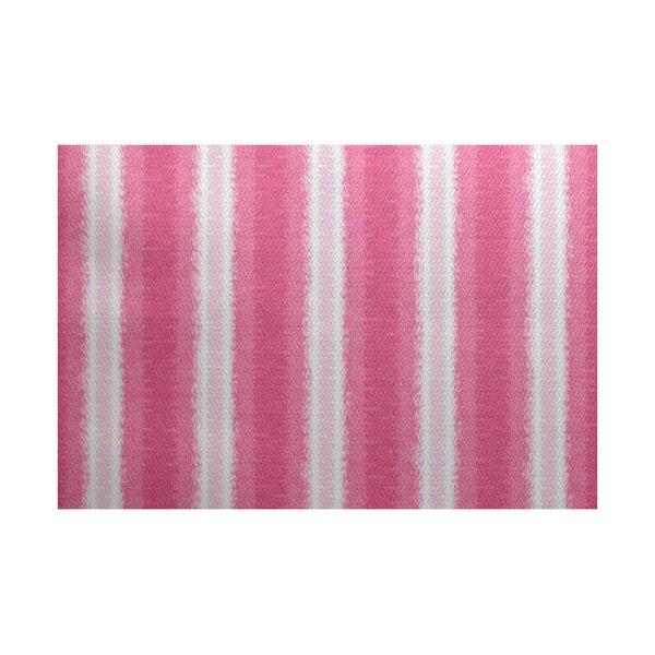 Navarro Pink/White Indoor/Outdoor Area Rug by Ebern Designs