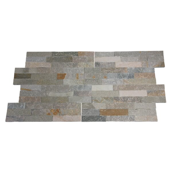 Canyon Random Sized 16 x 7 Natural Stone Subway Tile in Medium Gray/Beige (Set of 10) by Stone Design