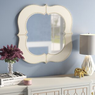 Marshall Antiqued Brass Wood Frame Wall Mirror by Willa Arlo Interiors