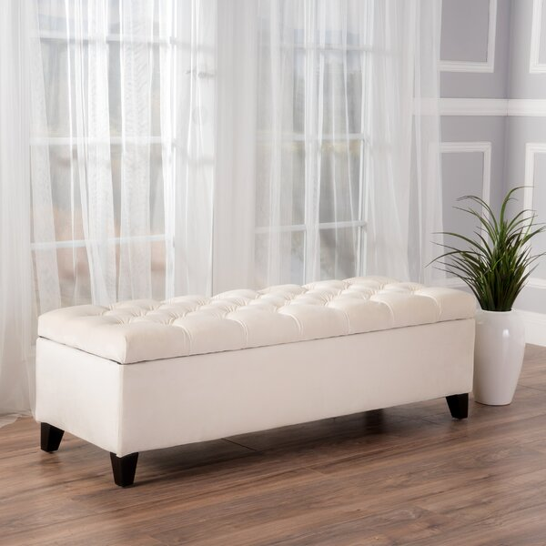 Amalfi Upholstered Storage Bench By Three Posts.