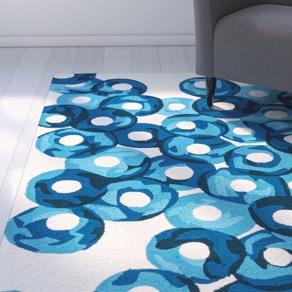 Elvira Ivory/Blue Indoor/Outdoor Area Rug by Zipcode Design