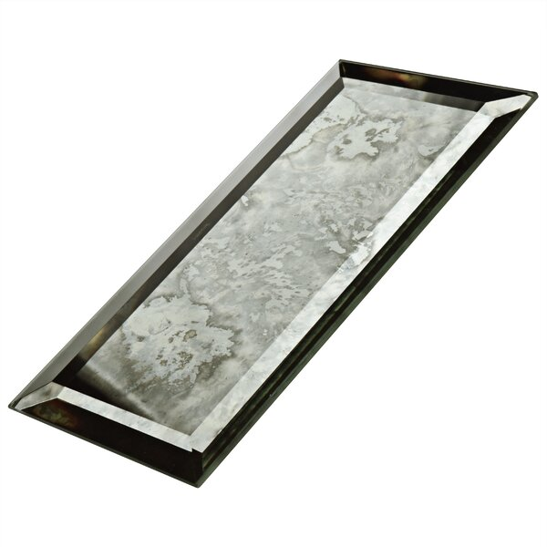 Lumin 3 x 6 Glass Subway Tile in Antique Mirror by EliteTile