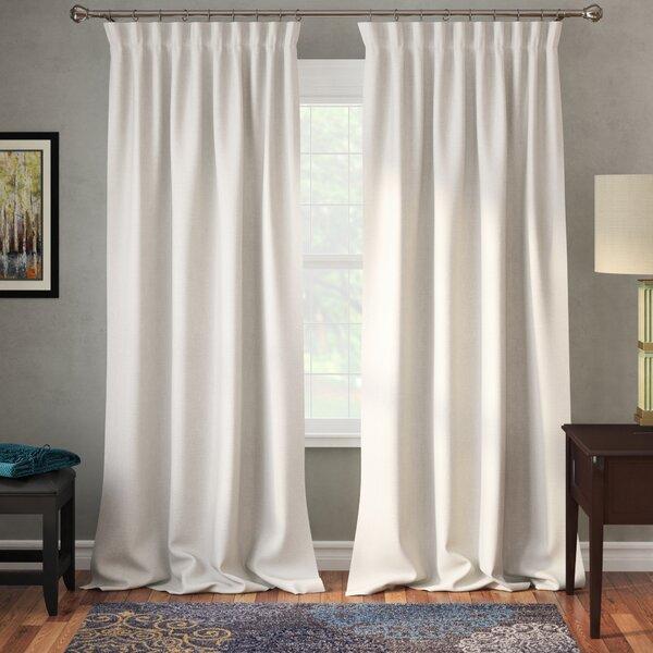 Freemansburg Solid Room Darkening Thermal Rod Pocket Single Curtain Panel by Three Posts