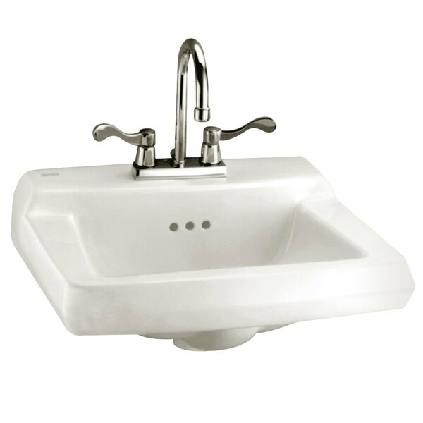 Baby Devoro Ceramic 20 Wall Mount Bathroom Sink with Overflow by American Standard