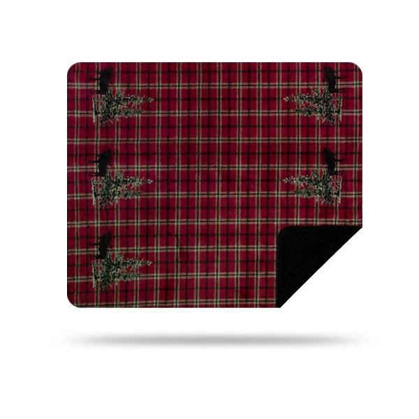 Flagg Hill Moose Plaid Border Blanket by Millwood Pines