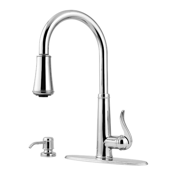 Pfister Ashfield Pull Down Single Handle Kitchen Faucet With Soap Dispenser Reviews