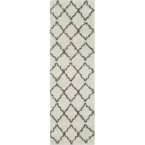 Olhouser Ivory/Charcoal Black Area Rug by Zipcode Design
