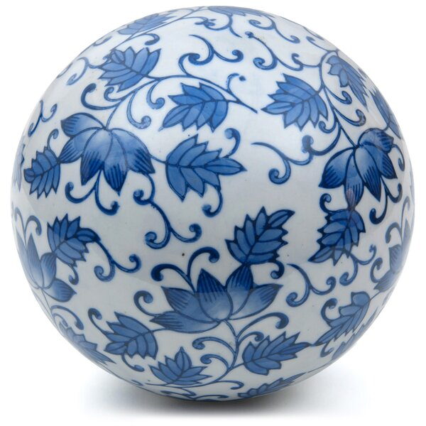 Leaves Decorative Ball Scultpure by Oriental Furniture