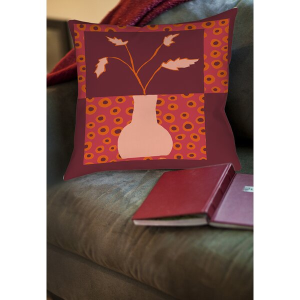 Minimalist Flowers 2 Printed Throw Pillow By Manual Woodworkers & Weavers.