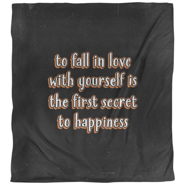 Quotes Loving Yourself Single Reversible Duvet Cover