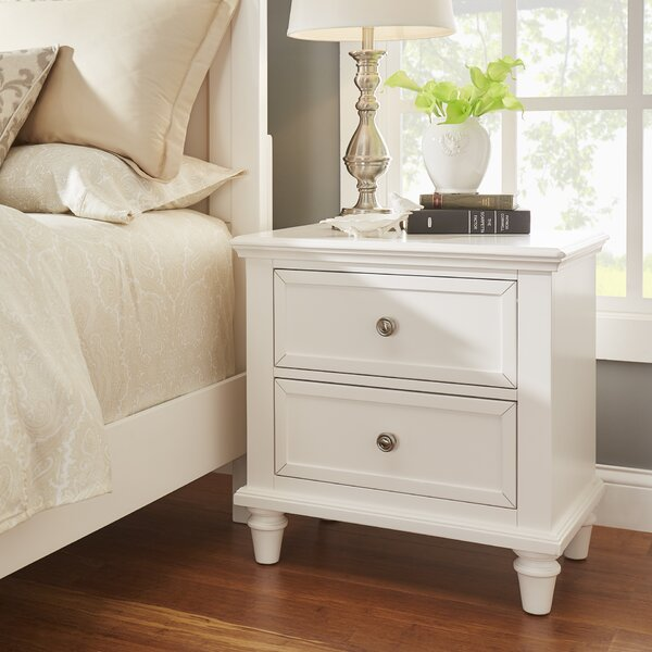 Rae 2 Drawer Nightstand by Three Posts