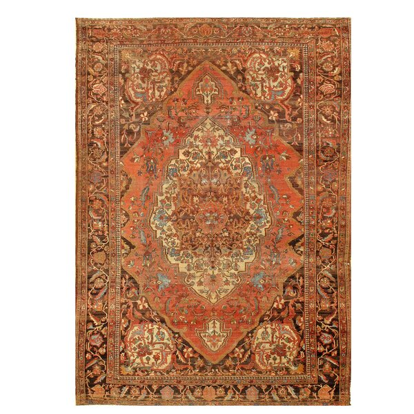 One-of-a-Kind Haben Hand-Knotted Rust 8'6 x 12'3 Area Rug