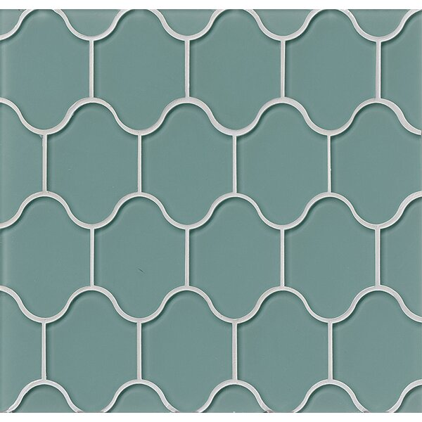 La Palma Glass Mosaic Tile in Glossy Blue by Grayson Martin