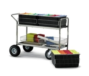Long Wire Basket File Cart by Charnstrom