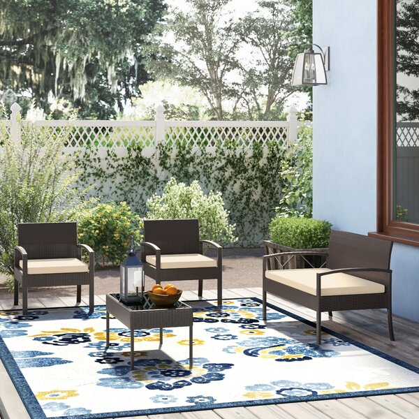 Boveney 4 Piece Sofa Seating Group with Cushions by Charlton Home