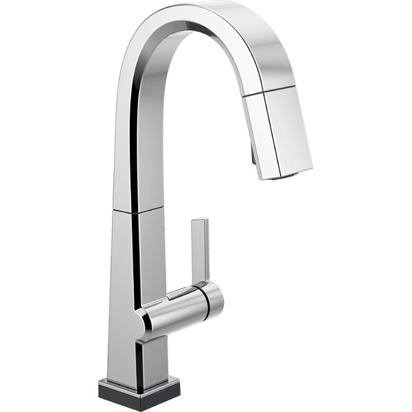 Single Handle Pull Down Bar/Prep Faucet With Touch2O Technology by Delta