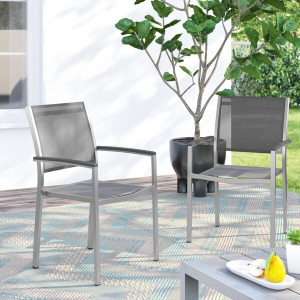 Coline Stacking Patio Dining Chair (Set Of 2) By Orren Ellis