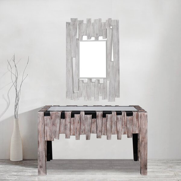 Bailey Mirrored Glass Top Console Table by Foundry Select Foundry Select
