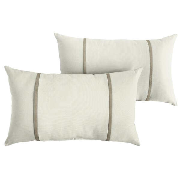 Citro Indoor/Outdoor Sunbrella Lumbar Pillow (Set of 2) by Highland Dunes