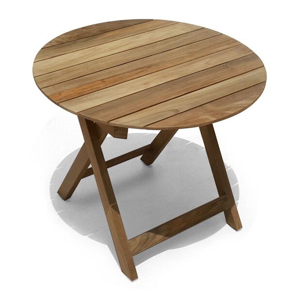 Pedersen Folding Teak Round Bistro Table by Bay Isle Home