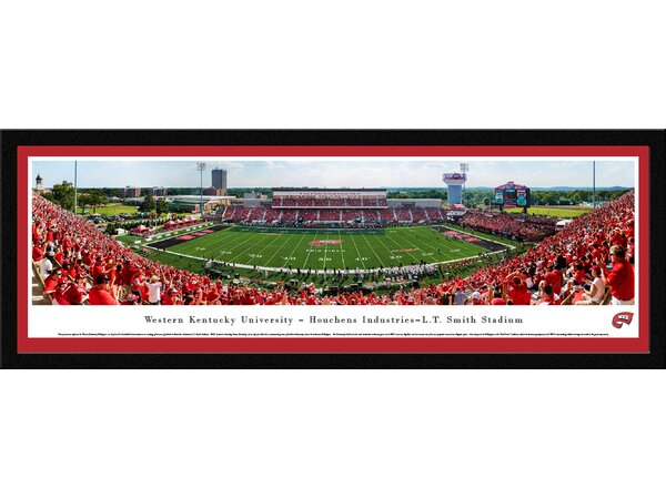 NCAA Western Kentucky Football 50 Yard Line Framed Photographic Print by Blakeway Worldwide Panoramas, Inc