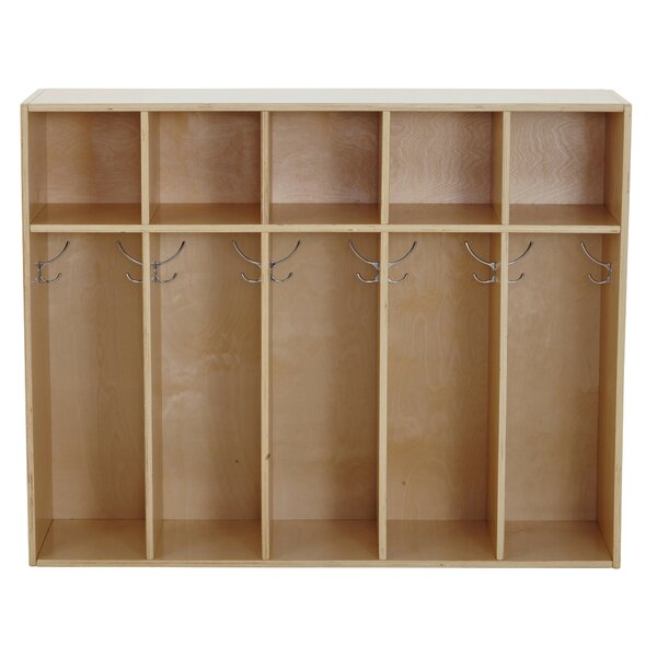 Birch Streamline 5 Section Coat Locker by ECR4kids