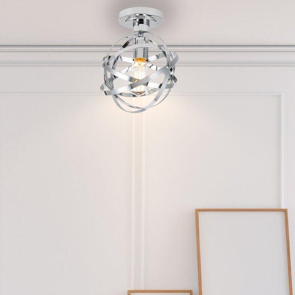 Pence 1-Light Semi Flush Mount by Orren Ellis