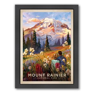 'Mt. Rainier' by Joel Anderson Framed Painting Print by East Urban Home