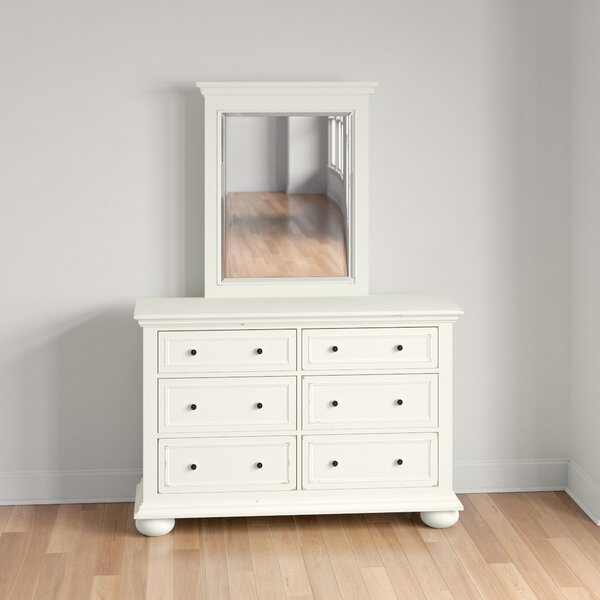 Rochford 6 Drawer Double Dresser with Mirror by Three Posts Teen