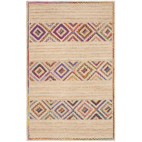 Framingham Hand-Woven Natural Area Rug by Bungalow Rose