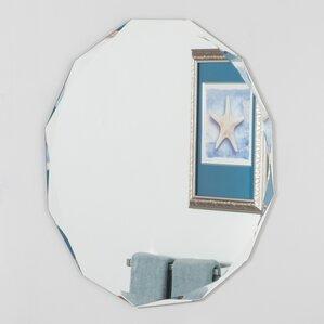 Bathroom Mirrors Oval oval bathroom mirrors you'll love   wayfair